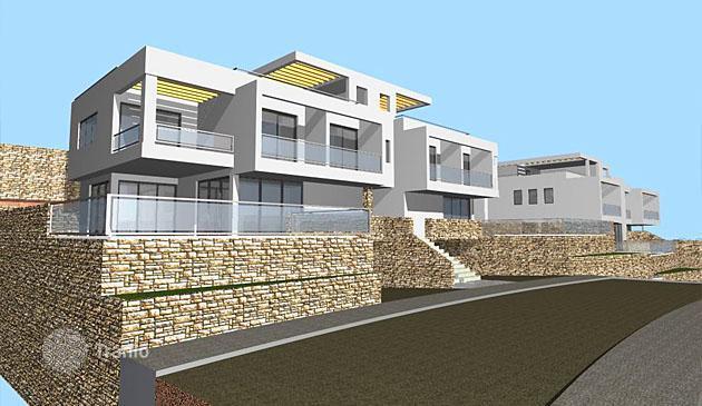 Luxury villas Domodossola under construction