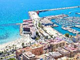 Beautiful panoramic view of Alicante beach