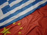 flag of china and flag of greece
